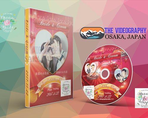 結婚式/披露宴 新郎新婦の為のゴージャスなDVDパッケージデザイン&盤面印刷用デザイン