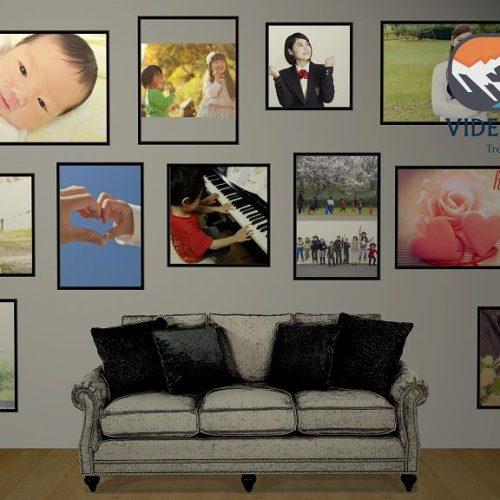 壁写真ギャラリー/家族の肖像やライフビデオ、記念日向けのフォトギャラリー作成サービス