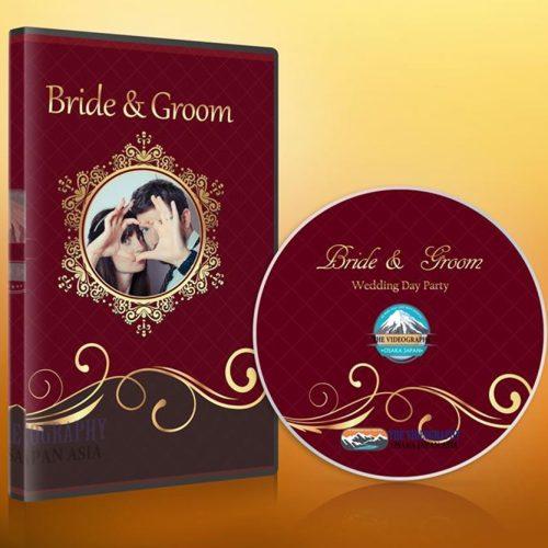 結婚式/披露宴 新郎新婦の為の荘厳なDVDパッケージデザイン&盤面印刷用デザイン Vol.11