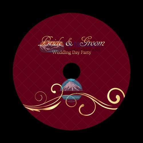 結婚式/披露宴 新郎新婦の為の荘厳なDVDレーベルデザイン Vol.11