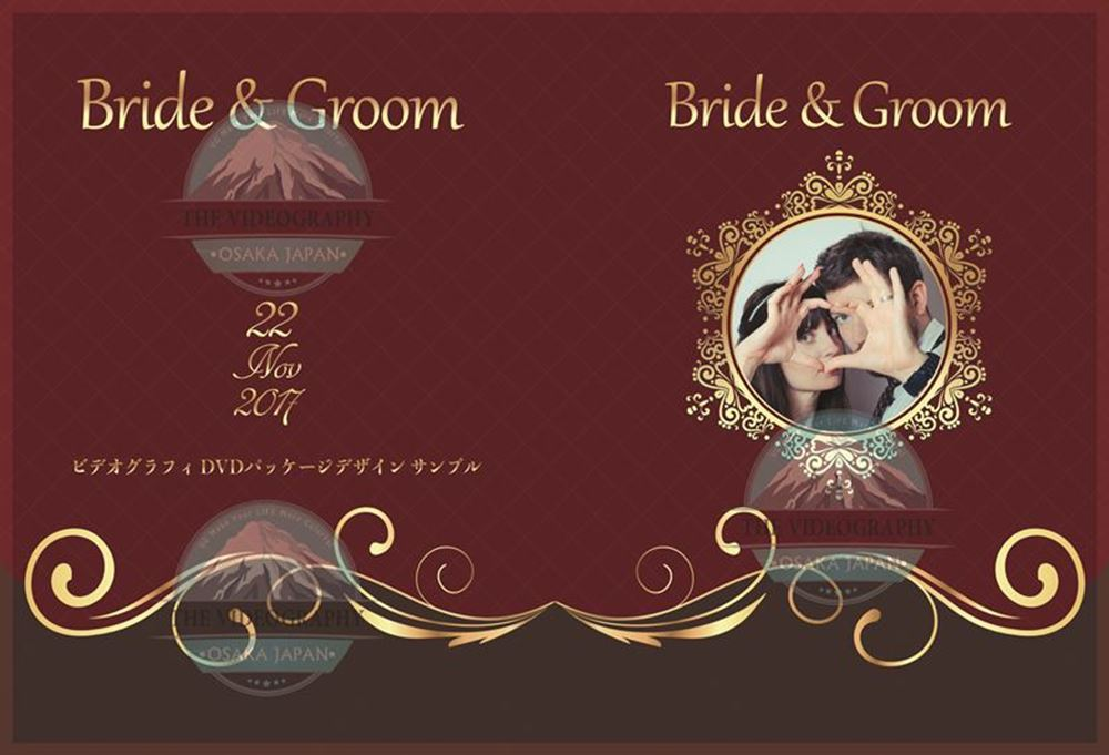 結婚式/披露宴 新郎新婦の為の荘厳なDVD盤面印刷デザイン Vol.11